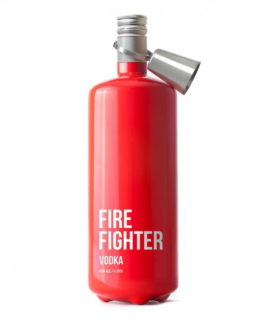 "Packaging bottiglia di Vodka ""Fire Fighter"""