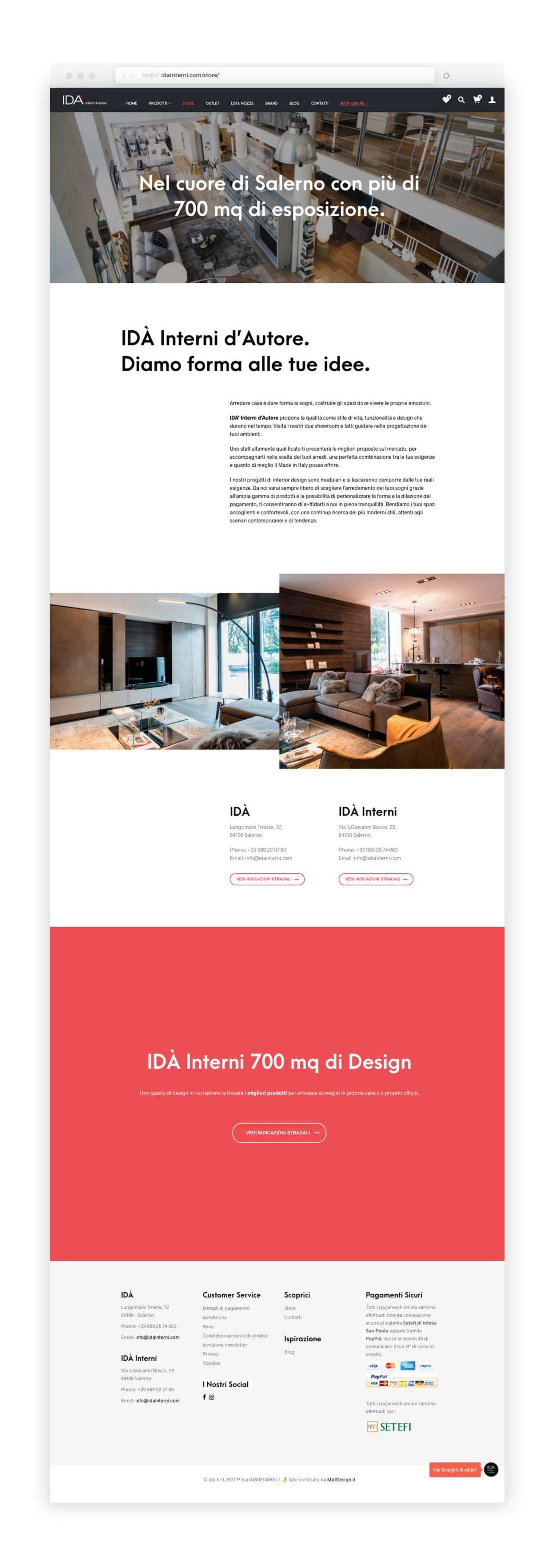e commerce arredamento id mpt design grafica e web agency
